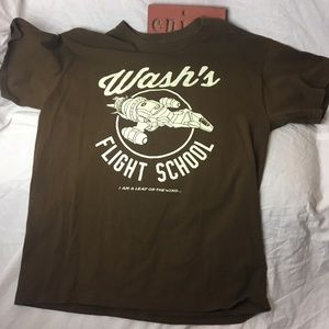 Wash's Flight School Graphic Tee Mens Size Large